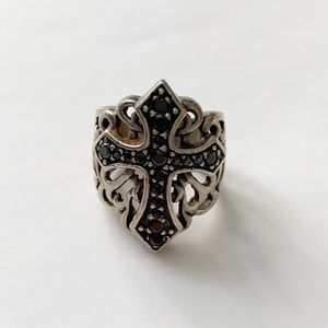 Women's Jeweled Cross Fashion Stainless Ring